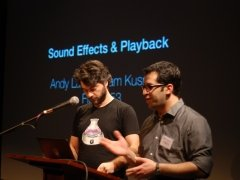 Andy and Sam presenting FX and Playback